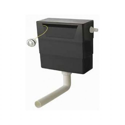 Kartell Push Button Concealed Cistern - Black